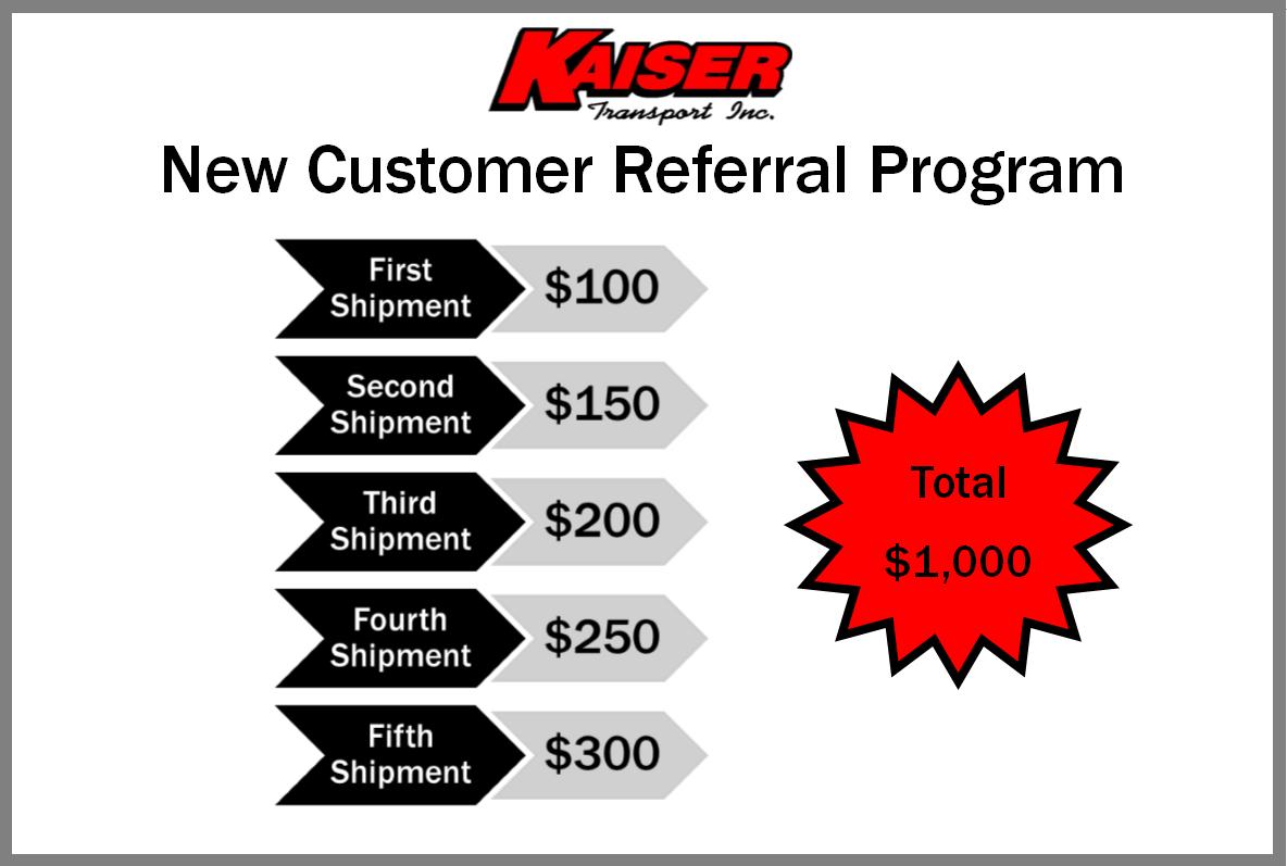 New Customer Referral