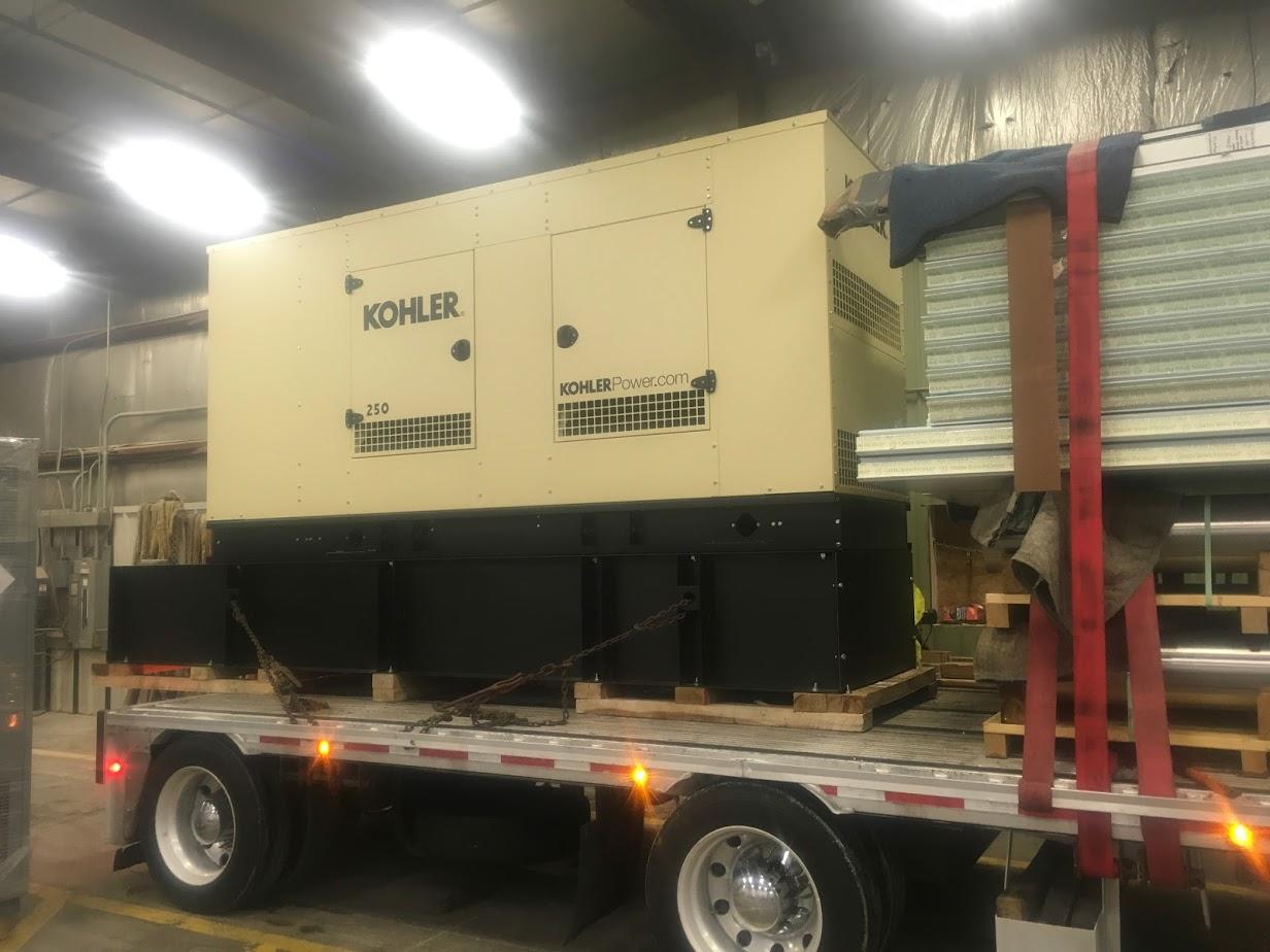 heavy generator hauling